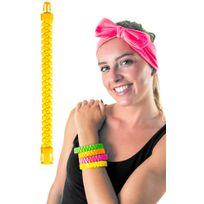 Party pro - Bracelet Zip Jaune Fluo