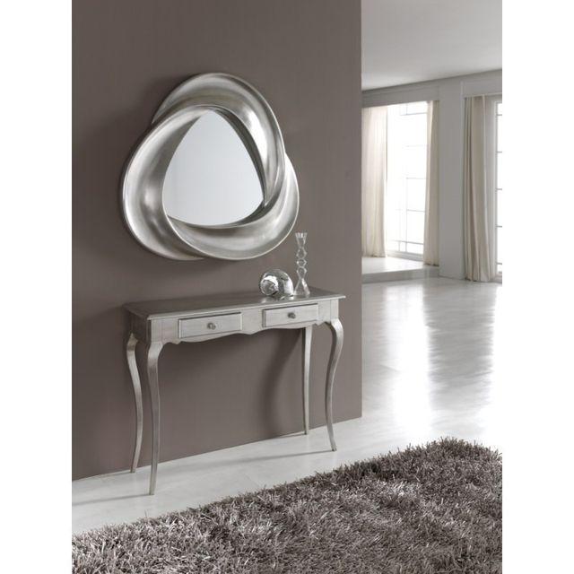 Ma Maison Mes Tendances Miroir triangulaire en polyuréthane argenté Gordi - L 95 x l 95