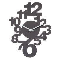 Horloge murale Chiffres Couleur Taupe
