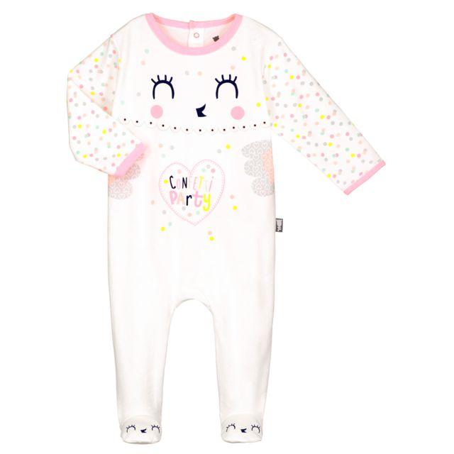 Petit Béguin - Pyjama bébé Roots - Couleurs - Ecru 05ac4438020