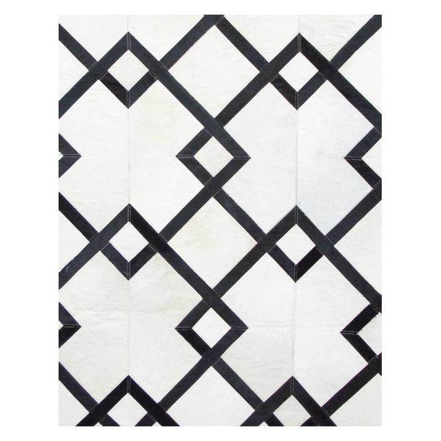 UN AMOUR DE TAPIS - Tapis BLANC CARRE noir Tapis Naturel 200 x 290 cm noir 200 x 290 cm