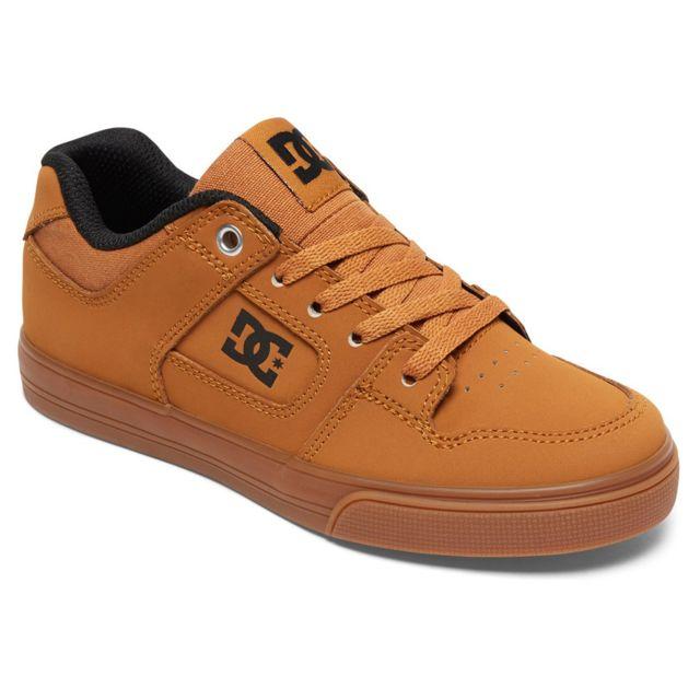 484e31a2150948 Dc - Shoes Pure Chaussure Garçon - Taille 32 - Beige - pas cher Achat /  Vente Baskets enfant - RueDuCommerce
