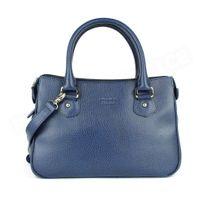 Volumica - Mini sac Cabas Monaco cuir Bleu marine Beaubourg