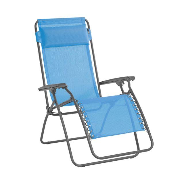 lafuma chaise longue relax rt2 texplast bleu azur. Black Bedroom Furniture Sets. Home Design Ideas
