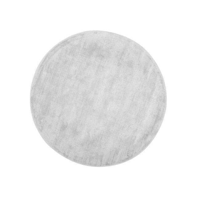 BELIANI Tapis rond en viscose gris clair GESI - gris clair