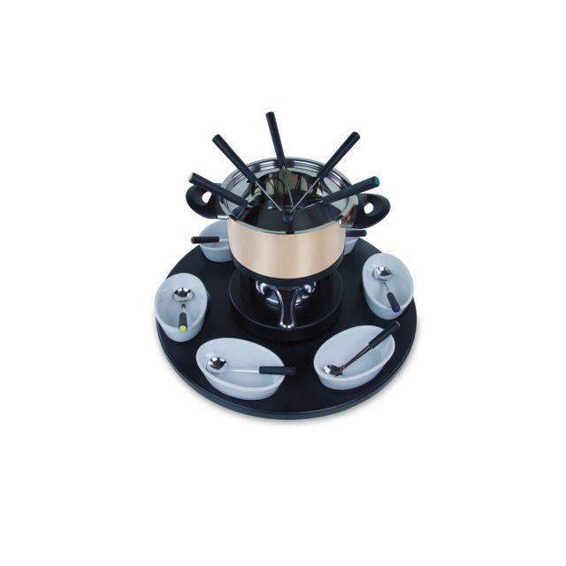 MARQUE GENERIQUE Service à fondue 22 pièces - Cuivré et noir - HO154395