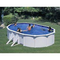 Gre Pools - Kit piscine hors sol acier ovale Bora Bora avec renforts apparents