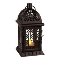 Star Trading - Lantern - Lanterne Métal Noir Votive Led H20cm | Lampe à poser Best Season designé par