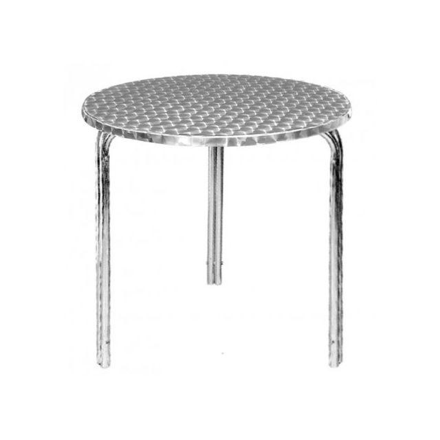 Materiel Chr Pro Table ronde Bistro empilable Bolero 600 mm