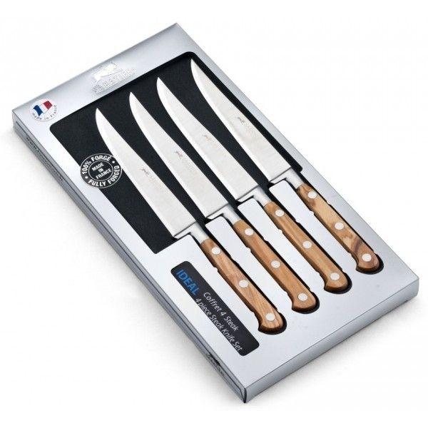 Sabatier Coffret 4 couteaux à steak lisses provençao forgé 13cm poign