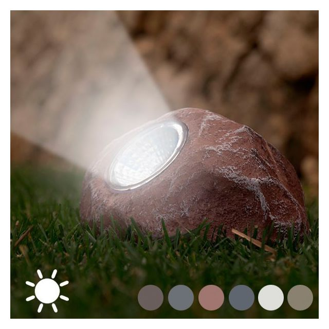 marque generique lampe solaire pour jardin en forme de pierre dcoration exterieur clairage couleur