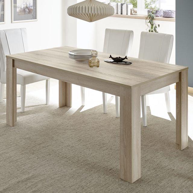 Sofamobili Table a manger 160 cm couleur chêne clair Artic 3