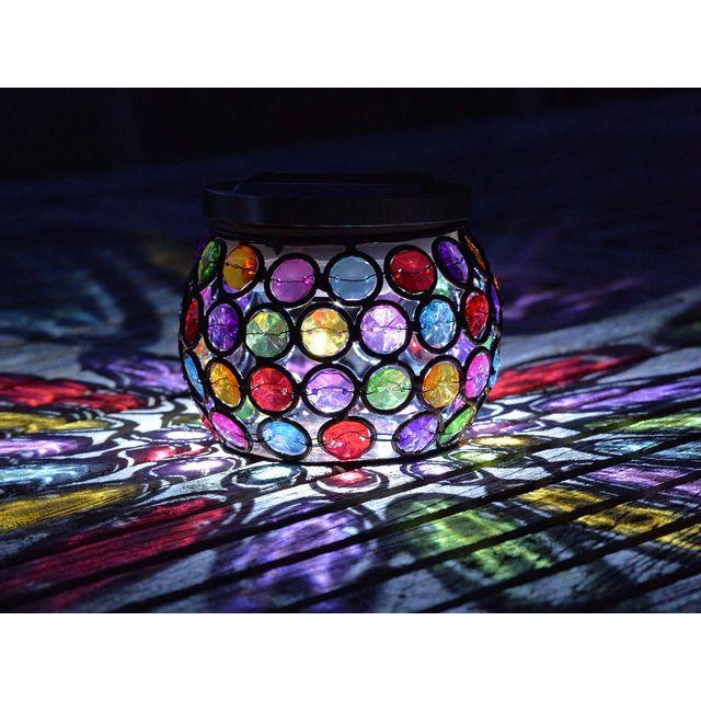 Smart Garden Lanterne multicolore Led solaire hauteur 10cm Gems