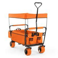 The Orange Supreme Chariot Remorque pliable 68kg toit ouvrant