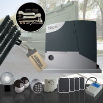 NICE - Motorisation portail coulissant RobusKit 400kg Prestige + accessoires