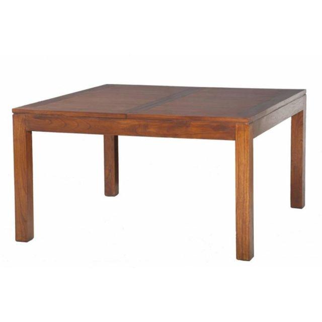 Inside 75 Table repas extensible Lauren 140 x 140 cm en mindi