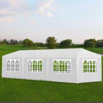 Rocambolesk superbe tonnelle pavillon de jardin blanc for Achat pavillon neuf