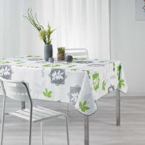 Douceur D'INTERIEUR - Cdaffaires Nappe rectangle 150 x 240 cm polyester imprime organic Vert