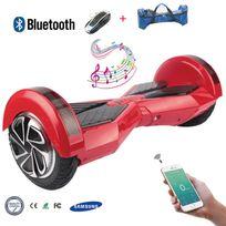 Cool And Fun - Cool&FUN Hoverboard Batterie Samsung, Bluetooth,Scooter électrique Auto-équilibrage,gyropode connecté 8 pouces Rouge Noir