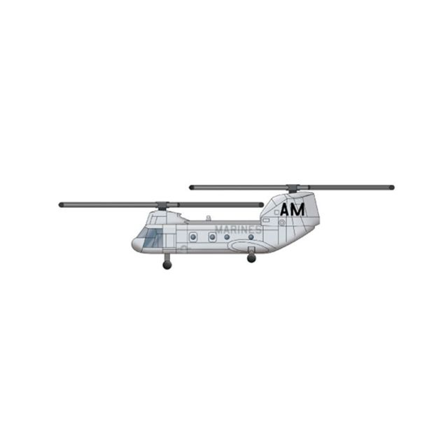 Trumpeter Maquette Hélicoptère : Set de 6 hélicoptères Ch-46E Sea Knight