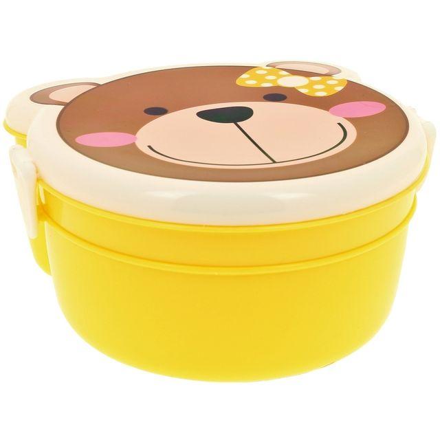 Promobo Set Panier Repas Enfant Boite Gouter Bébé Lunch Box Ourson