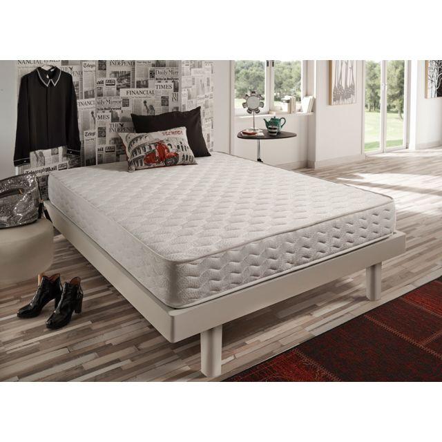 NATURALEX Matelas FOCUS 140x190 cm coeur 100% mousse HR Blue Latex® bi-densité + 7 zones de confort Équilibré