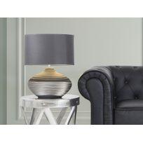 Beliani - Lampe à poser - lampe de salon, de chevet, de bureau - gris - Lima