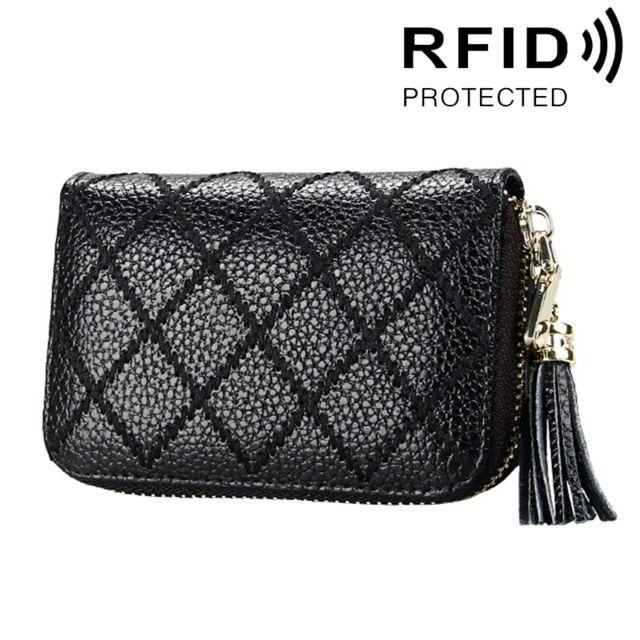 Wewoo - Porte Carte Protection sans contact Anti Rfid noir pour les femmes,  Taille  df06169307c