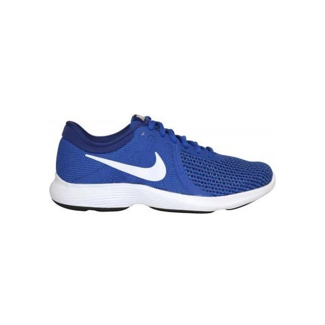 hot sale online 7dbf0 8400b Nike - Chaussures Nike Revolution 4 bleu électrique blanc