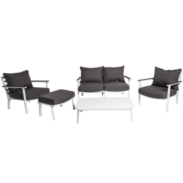 Creative Garden - Canapé de jardin + 2 fauteuils + 1 table basse + 1 ...