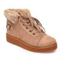 Lamodeuse - Creepers montante taupe fourrées