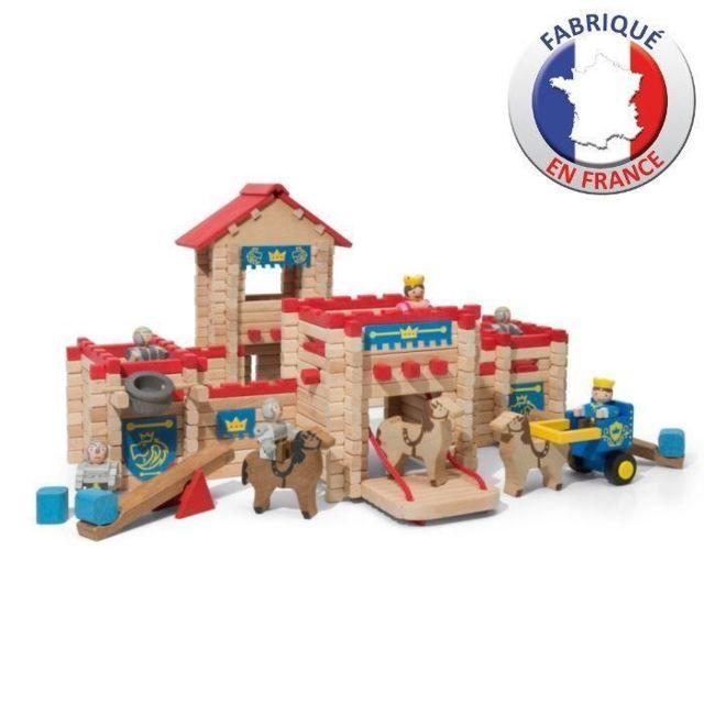 JEU D'ASSEMBLAGE - JEU DE CONSTRUCTION - JEU DE MANIPULATION JEUJURA - Le Chateau Fort en bois - Jeu de construction - 3