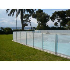 pse barriere de piscine beethoven blanche avec piquets anodis s longueur 2 m pas cher. Black Bedroom Furniture Sets. Home Design Ideas