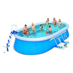 Best way kit piscine ovale autoportante 5 49x3 66x1 22m for Piscine 3 66x1 22