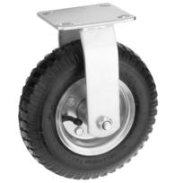 PrimeMatik Roue de brouette Solide 50 Kg 6x2 152x50 mm pour charettes Chariots et Plates-Formes de Transport