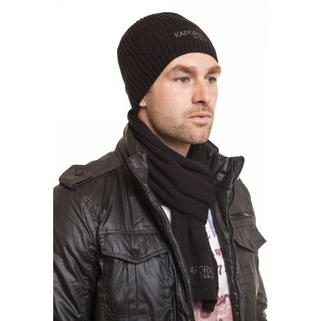 Kaporal 5 , Kaporal Bonnet Coffret bonnet echarpe freg noir , pas cher  Achat / Vente Casquettes, bonnets, chapeaux , RueDuCommerce