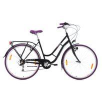 Ks Cycling - Vélo de ville 28'' Casino noir-mauve Tc 51 cm
