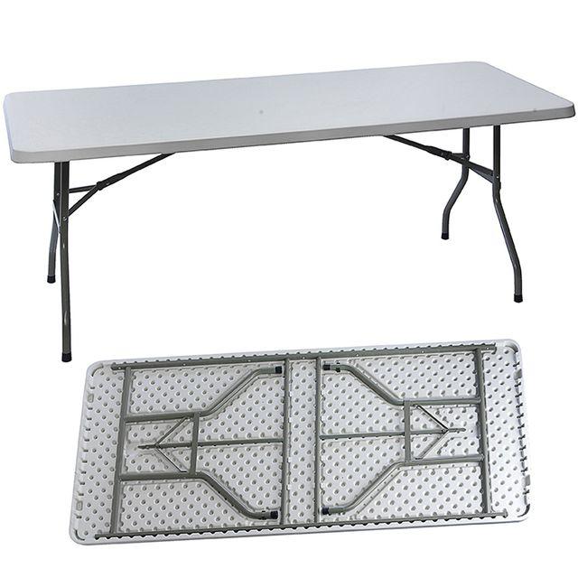 MAISON FUTEE - Table de jardin pliante en plastique - 183 cm - pas ...