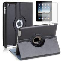 Vcomp - Housse avec support Et Rotation 360° en cuir Pu pour Apple iPad 2/ 3 nouvel iPad, /4 Retina - Noir