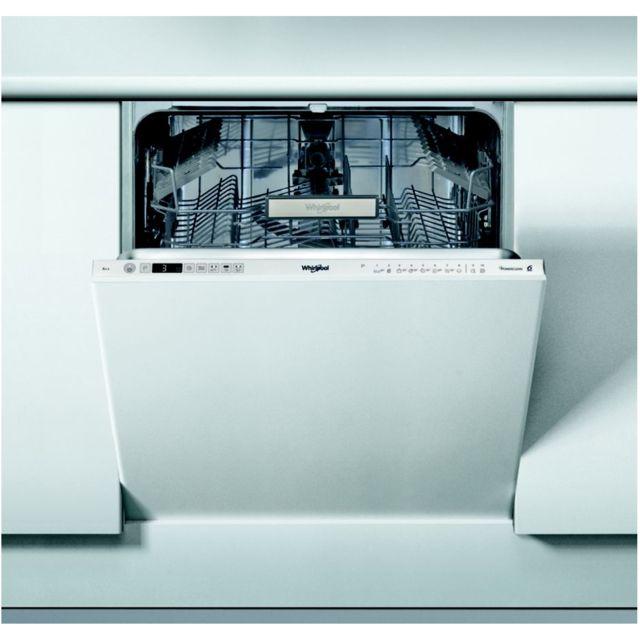 Whirlpool lave-vaisselle 60cm 14c 42db a++ tout integrable - wio3t122ps