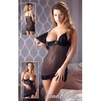 Cottelli - Mini-robe en tulle et imprime - Noir - Taille 95B