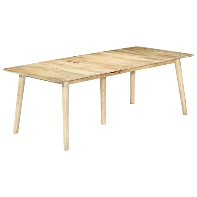 Stylé Tables selection Katmandou Table de salle à manger 220x100x76 cm Bois solide de manguier