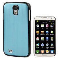 Techexpert - Coque plastique revêtement bleu clair métallisé avec contour noir pour Samsung Galaxy S4 i9500