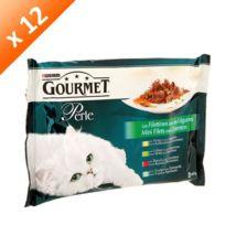 Gourmet - Perle Les filettines avec des légumes pour chat 4 x 85g -12