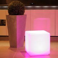 Dedans Dehors - Cube lumineux multicolore