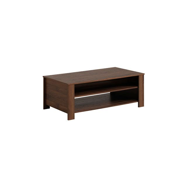 Table basse 2 niches - coloris teck