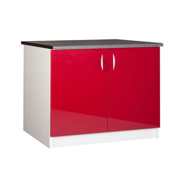 meublesline meuble bas de cuisine 120 cm 2 portes oxane laqu