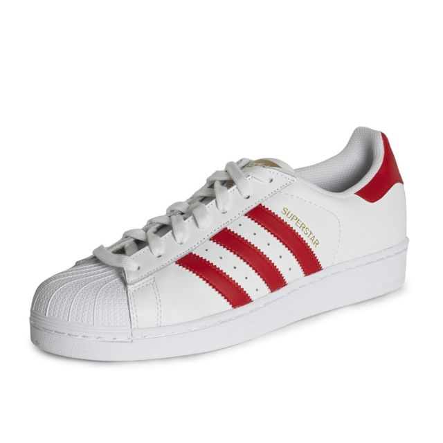check out ffd8b 692f8 Adidas originals - Baskets Superstar Foundation - B27139 Blanc, Rouge - 48  - pas cher Achat   Vente Baskets homme - RueDuCommerce