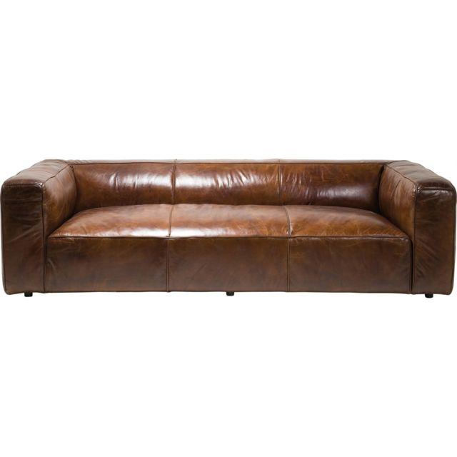 Karedesign Canapé en cuir Cubetto 260 cm Kare Design
