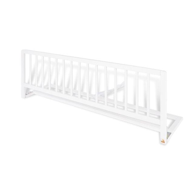 Comforium Barrière de protection 120 cm pour lit en bois de hêtre massif coloris blanc
